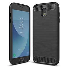 Coque Silicone Housse Etui Gel Serge pour Samsung Galaxy J5 (2017) SM-J750F Noir