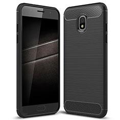 Coque Silicone Housse Etui Gel Serge pour Samsung Galaxy J7 (2018) J737 Noir