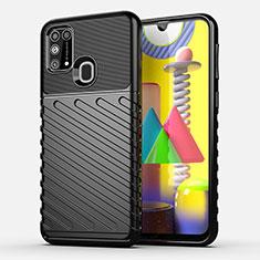 Coque Silicone Housse Etui Gel Serge pour Samsung Galaxy M21s Noir