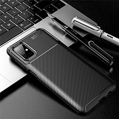 Coque Silicone Housse Etui Gel Serge pour Samsung Galaxy M51 Noir