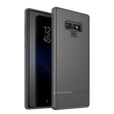 Coque Silicone Housse Etui Gel Serge pour Samsung Galaxy Note 9 Gris