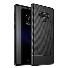 Coque Silicone Housse Etui Gel Serge pour Samsung Galaxy Note 9 Noir