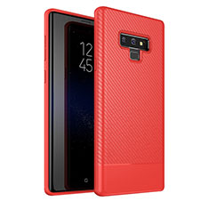 Coque Silicone Housse Etui Gel Serge pour Samsung Galaxy Note 9 Rouge