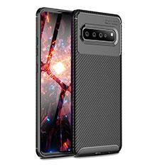 Coque Silicone Housse Etui Gel Serge pour Samsung Galaxy S10 5G SM-G977B Noir