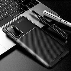 Coque Silicone Housse Etui Gel Serge pour Samsung Galaxy S20 FE 5G Noir