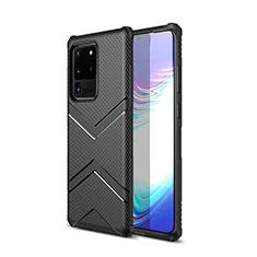Coque Silicone Housse Etui Gel Serge pour Samsung Galaxy S20 Ultra 5G Noir