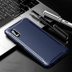 Coque Silicone Housse Etui Gel Serge pour Samsung Galaxy XCover Pro Bleu