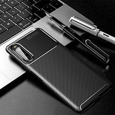 Coque Silicone Housse Etui Gel Serge pour Sony Xperia 10 II Noir
