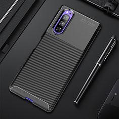 Coque Silicone Housse Etui Gel Serge pour Sony Xperia 5 Noir