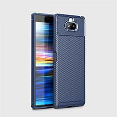 Coque Silicone Housse Etui Gel Serge pour Sony Xperia 8 Lite Bleu