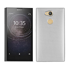 Coque Silicone Housse Etui Gel Serge pour Sony Xperia L2 Blanc