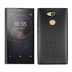Coque Silicone Housse Etui Gel Serge pour Sony Xperia L2 Noir