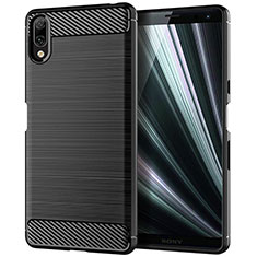 Coque Silicone Housse Etui Gel Serge pour Sony Xperia L3 Noir