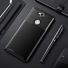Coque Silicone Housse Etui Gel Serge pour Sony Xperia XA2 Plus Noir