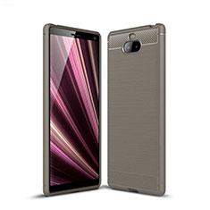Coque Silicone Housse Etui Gel Serge pour Sony Xperia XA3 Gris