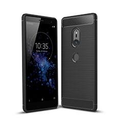 Coque Silicone Housse Etui Gel Serge pour Sony Xperia XZ2 Noir