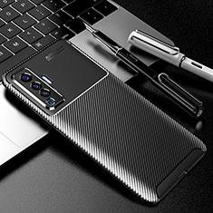 Coque Silicone Housse Etui Gel Serge pour Vivo X50 5G Noir