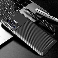 Coque Silicone Housse Etui Gel Serge pour Vivo X50 Pro 5G Noir