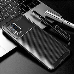Coque Silicone Housse Etui Gel Serge pour Xiaomi Mi 10 Lite Noir