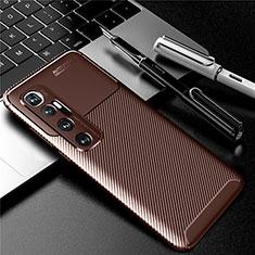 Coque Silicone Housse Etui Gel Serge pour Xiaomi Mi 10 Ultra Marron