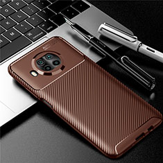 Coque Silicone Housse Etui Gel Serge pour Xiaomi Mi 10i 5G Marron