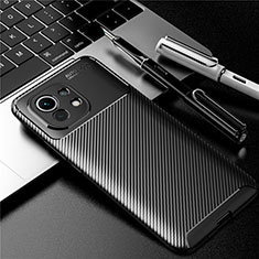 Coque Silicone Housse Etui Gel Serge pour Xiaomi Mi 11 5G Noir