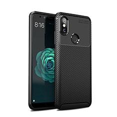 Coque Silicone Housse Etui Gel Serge pour Xiaomi Mi 6X Noir
