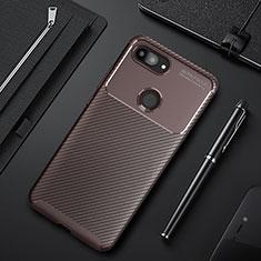 Coque Silicone Housse Etui Gel Serge pour Xiaomi Mi 8 Lite Marron