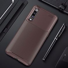 Coque Silicone Housse Etui Gel Serge pour Xiaomi Mi 9 Lite Marron