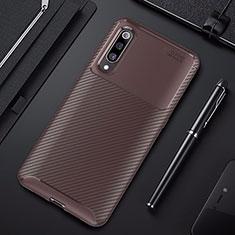 Coque Silicone Housse Etui Gel Serge pour Xiaomi Mi 9 Pro 5G Marron