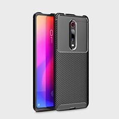 Coque Silicone Housse Etui Gel Serge pour Xiaomi Mi 9T Noir