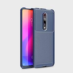 Coque Silicone Housse Etui Gel Serge pour Xiaomi Mi 9T Pro Bleu