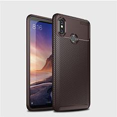 Coque Silicone Housse Etui Gel Serge pour Xiaomi Mi Max 3 Marron