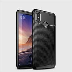 Coque Silicone Housse Etui Gel Serge pour Xiaomi Mi Max 3 Noir