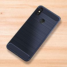 Coque Silicone Housse Etui Gel Serge pour Xiaomi Mi Mix 3 Bleu