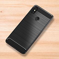 Coque Silicone Housse Etui Gel Serge pour Xiaomi Mi Mix 3 Noir