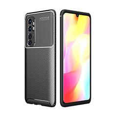 Coque Silicone Housse Etui Gel Serge pour Xiaomi Mi Note 10 Lite Noir