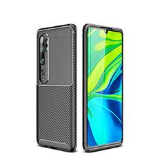 Coque Silicone Housse Etui Gel Serge pour Xiaomi Mi Note 10 Noir