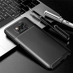 Coque Silicone Housse Etui Gel Serge pour Xiaomi Poco X3 NFC Noir