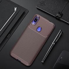 Coque Silicone Housse Etui Gel Serge pour Xiaomi Redmi 7 Marron