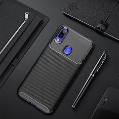 Coque Silicone Housse Etui Gel Serge pour Xiaomi Redmi 7 Noir