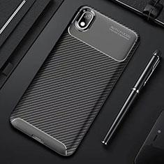Coque Silicone Housse Etui Gel Serge pour Xiaomi Redmi 7A Noir
