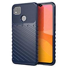 Coque Silicone Housse Etui Gel Serge pour Xiaomi Redmi 9C NFC Bleu