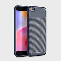 Coque Silicone Housse Etui Gel Serge pour Xiaomi Redmi Go Bleu