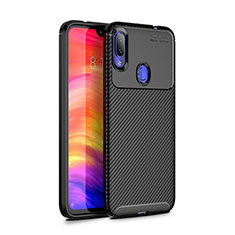 Coque Silicone Housse Etui Gel Serge pour Xiaomi Redmi Note 7 Noir
