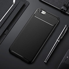 Coque Silicone Housse Etui Gel Serge S01 pour Apple iPhone 6S Noir