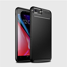Coque Silicone Housse Etui Gel Serge S01 pour Apple iPhone 7 Plus Noir