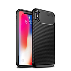 Coque Silicone Housse Etui Gel Serge S01 pour Apple iPhone Xs Noir