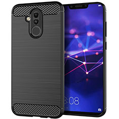 Coque Silicone Housse Etui Gel Serge S01 pour Huawei Mate 20 Lite Noir