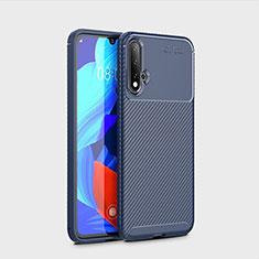 Coque Silicone Housse Etui Gel Serge S01 pour Huawei Nova 5 Pro Bleu